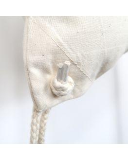 blanc cotton gym bag