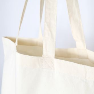 blank cotton carrier bag